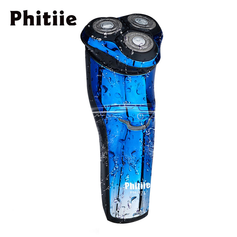 Phitiie Men's Electric Shaver Professional Rechargeable Washable Shaving Machine Intelligent 3D Razor Male Beards Trimmer PH-371 braun series 3 electric shaver 3080s electric razor blades shaving machine rechargeable electric shaver for men washable