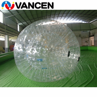 Free air blower inflatable bubble zorbing ball for water game 1.0mm high quality bumper ball clear inflatable zorb ball for sale