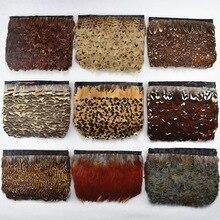 10 м/лот натуральный леди Амхерст фазана перо планки ленты перья для ремесла Отделка одежда с бахромой аксессуары