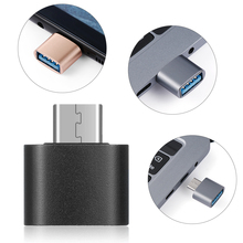 New Fashion 4pcs Metal USB C  Type C to USB 3.0 Male to Female OTG Converter Adapter for Huawei Samsung Android Smartphones