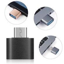 Nova Moda 4 pcs Metal USB C Tipo C para USB 3.0 Macho para Conversor Adaptador Feminino OTG para Huawei Samsung android Smartphones