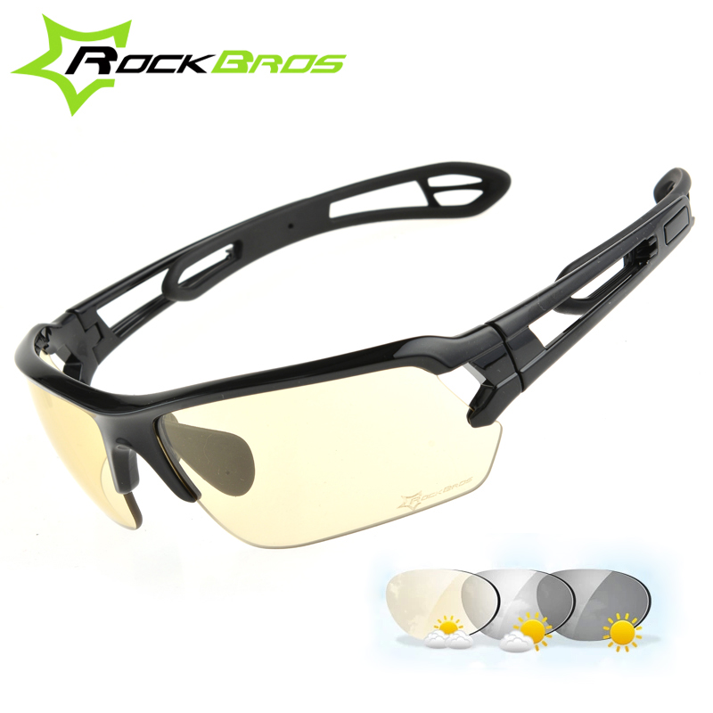 RockBros Photochromic Cycling Glasses Sunglasses Men/Women UV400 Outdoor Sport Bicycle Bike Glasses Cycling Eyewear Goggles 2017 queshark men polarized fishing sunglasses camping hiking goggles uv400 protection bike cycling glasses sports fishing eyewear