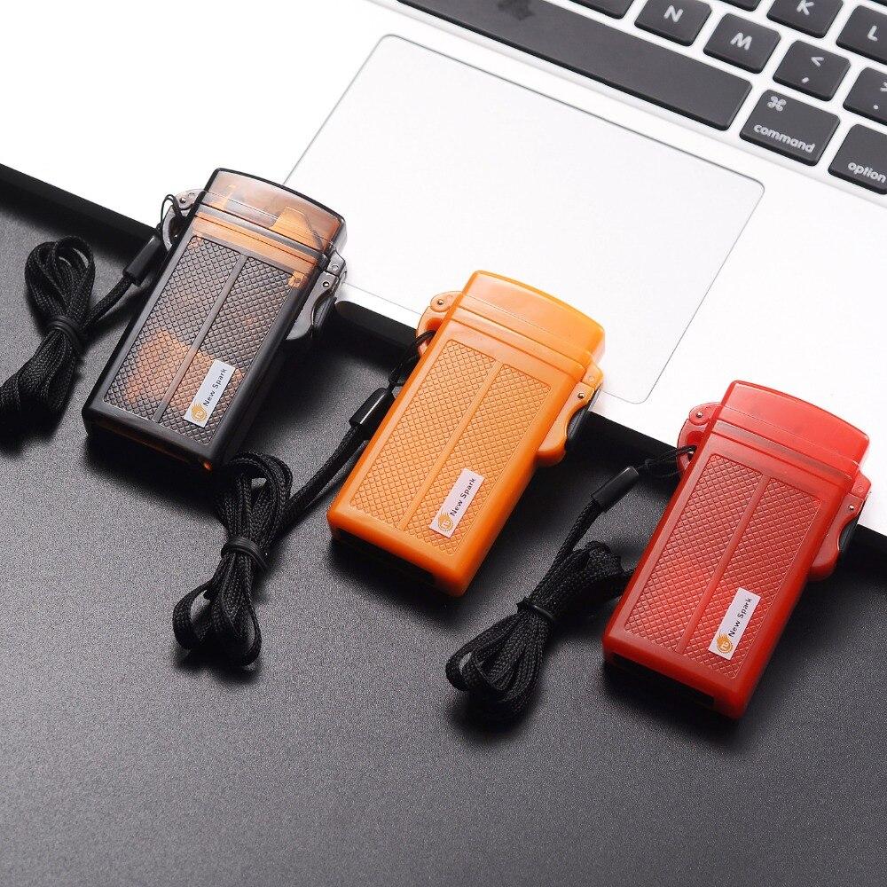 FF Pulso encendedor de Cigarrillos Electrónicos A Prueba de agua De Plástico USB