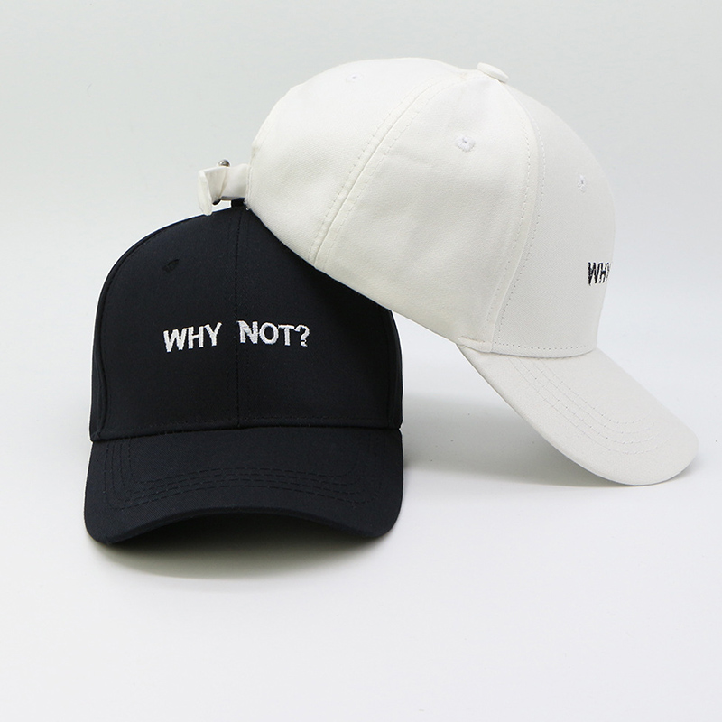 Letter WHY NOT Snapback Baseball Cap Hip Hop Hat For Men Women Dad Gorras Boy Girls Cotton Black pink White Fitted Hat Bone Caps american eagle black logo cap baseball cap fitted hat casual cap gorras hip hop snapback hats wash cap for men women unisex