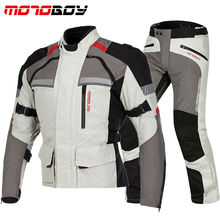how-yes Motoboy new touring adventure motorcycle protective jacket&pant suit high waterproof windproof and warm liner