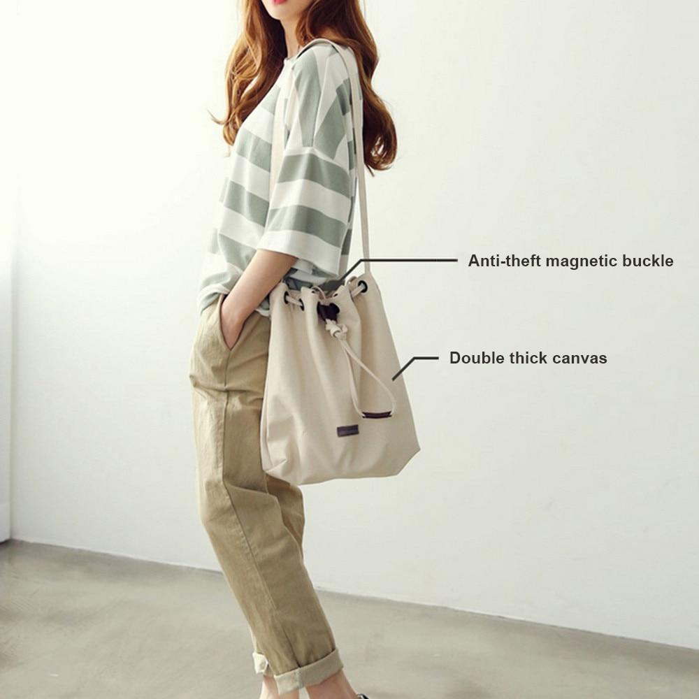 Black Korean Over Shoulder Bags Female Irregular Canvas Messenger Bag Vintage Bag Female Bolsa Feminina