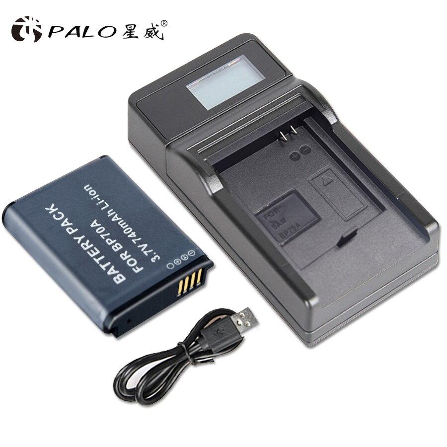 PALO caméra batterie bp-70a pour samsung bp70a batterie samsung es70 batterie avec écran lcd chargeur de batterie charge de la batterie numérique
