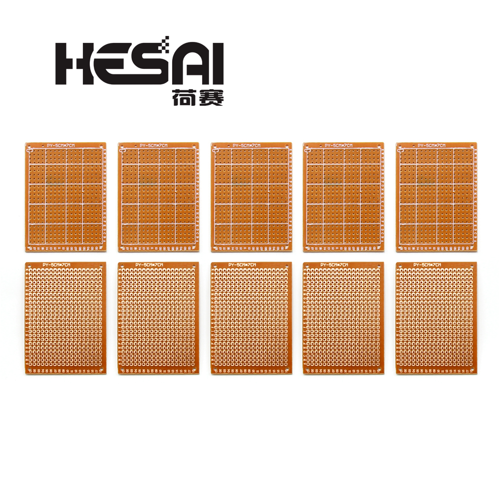 10Pcs Prototype Paper Copper PCB Universal Experiment Matrix Circuit Board 5x7cm Brand