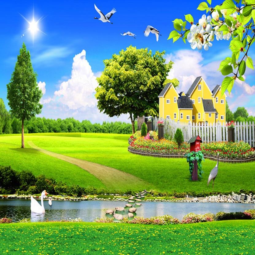 Home Design 3d Outdoor Garden On The App Store: Green Scene Flying Birds Swimming Goose Yellow House