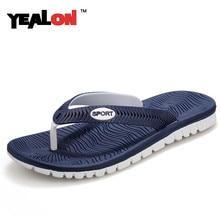 YEALON New 2016 Summer Men Sandals, High-quality Soft Beach Flip Flops EVA Massage Slippers For Men's sandals Size:40-45