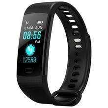 OGEDA спортивные часы браслет Для женщин Для мужчин светодио дный Водонепроницаемый Smart запястье сердечного ритма крови Давление шагомер часы для ios и Android