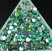 Free Shipping 5000pcs Acid Blue AB Resin 4mm FlatBack Rhinestones Nail Art Mobile Phone Stick Drill