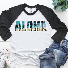 aloha tshirt plus size women 2019  long sleeve shirt 90s print graphic tees beach tee funny t shirts summer girls new plus sequin sleeve graphic tee