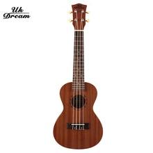 Mini Acoustic Guitar 23 inch Ukulele Full Sapele Musical Stringed Instruments 4 Strings Guitar 17 Frets Rosewood Guitars UC-110