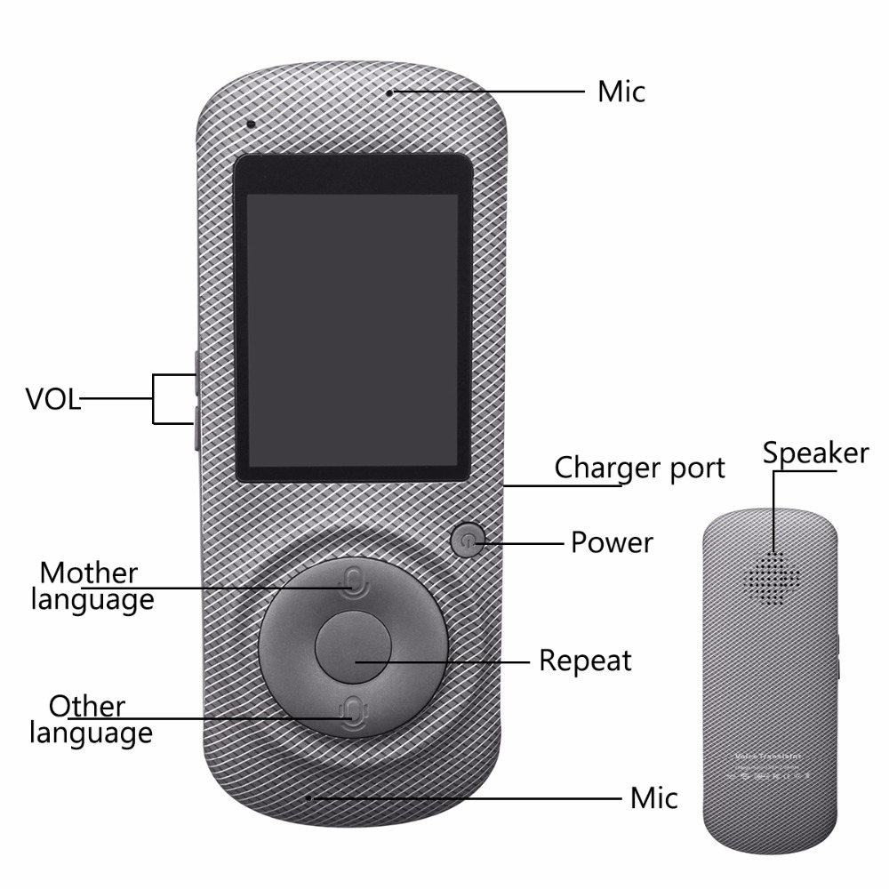 Intelligent Language Voice Translator WiFi Instant Portable Translator 2 Way Real-Time Translation Traveling Meeting Translator 17