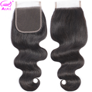 Ariel 4×4 Lace Closure Body Wave Closure Remy Closures Human Hair Closure Brazilian Swiss Lace Frontal Closure Free to Brazil(China)