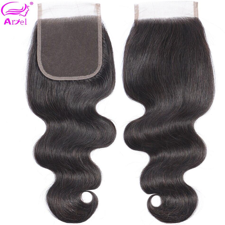 Ariel Body Wave Closure 4×4 Lace Closure Cheveux Humain Closures Remy Human Hair Closure Peruvian Swiss Lace Frontal Closure