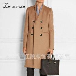 Casaco de inverno feminino lã 2020 roupas elegantes do vintage moda outwear longo fino casaco de inverno camelo mais