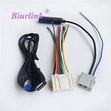 Автомобиль Радио USB аудио Вход жгут Телевизионные антенны кабель адаптер для Nissan Qashqai tenna один комплект