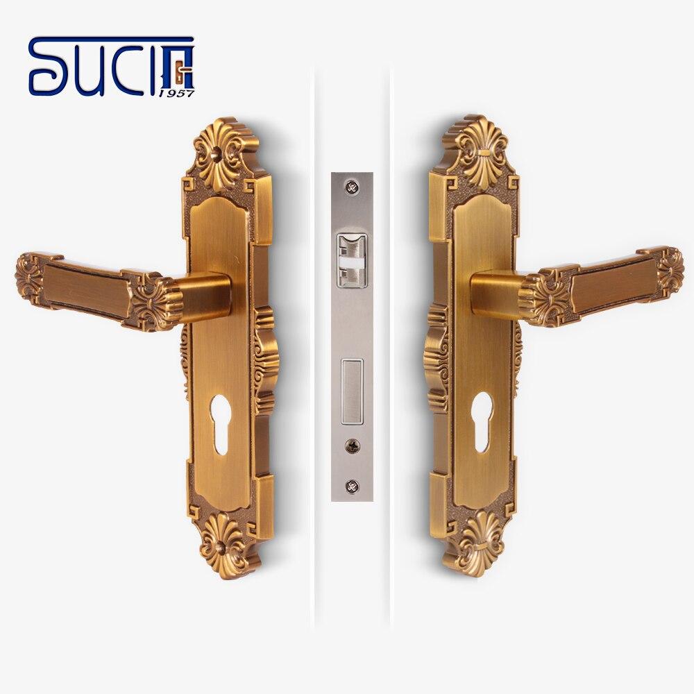 Sucin door locks chrome interior door keylocks mortise - Interior door privacy mortise lock ...