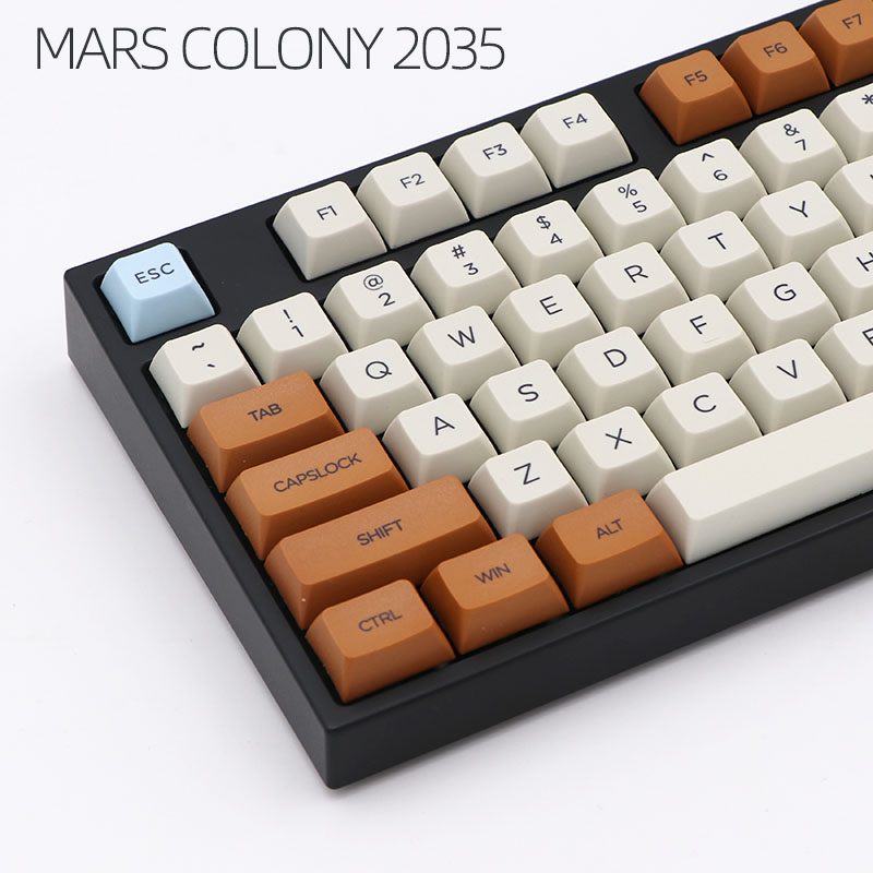 Mechanical-Keyboard Keycap Mars Sublimated Duck/ikbc Mx-Switch Xdas-Profile Colony 121/163-Dye
