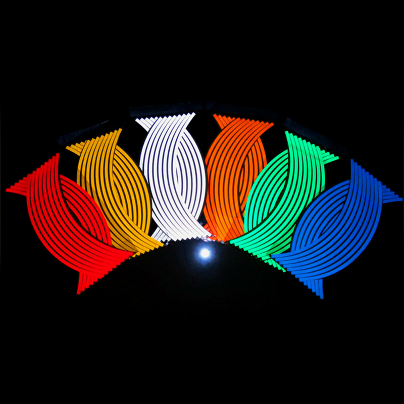 Motorcycle <font><b>Wheel</b></font> <font><b>Sticker</b></font> Reflective Rim Stripe Tape For <font><b>YAMAHA</b></font> YZF600 YZF1000 R1 <font><b>R6</b></font> XJR400 1200 FZ400 600 FZR250 FZR400 image