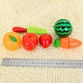 6 Unids/set Colorido Plástico Vegetal Fruta Conjunto de Juegos Para Niños-Muy Creativo Juego de Imaginación Juguete Suministros
