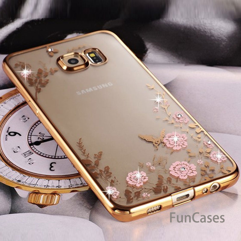Bling Diamond Clear Case for Samsung S8 S9 A8 A6 J4 J6 plus A7 2018 Silicone TPU Cover Fundas For Note 9 8 <font><b>J3</b></font> J5 J7 A5 A3 S7 S6 image