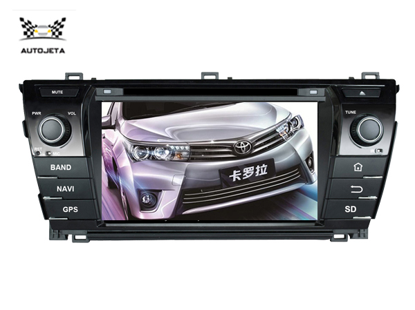 4 UI intereface combined in ONE system CAR DVD PLAYER FOR Toyota COROLLA 2014 2015 BLUETOOTH GPS radio navigation free map SWC