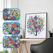 DIY 5D Diamond Painting New Arrivals Special Shaped Embroidery Four Seasons Tree Crystal Drill Paintings