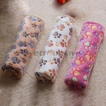 Carino Pet Piccolo Caldo Blanket Zampa del Cane Della Stampa del Gatto Criceti Cucciolo Fleece Letti Morbidi Zerbino Cuscino Pad 1