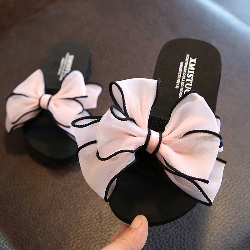 Summer New Non-slip Children's Flip-flops Girls Fashion Beach Shoes Pinch Sandals Female Flowers Slippers Women Wear