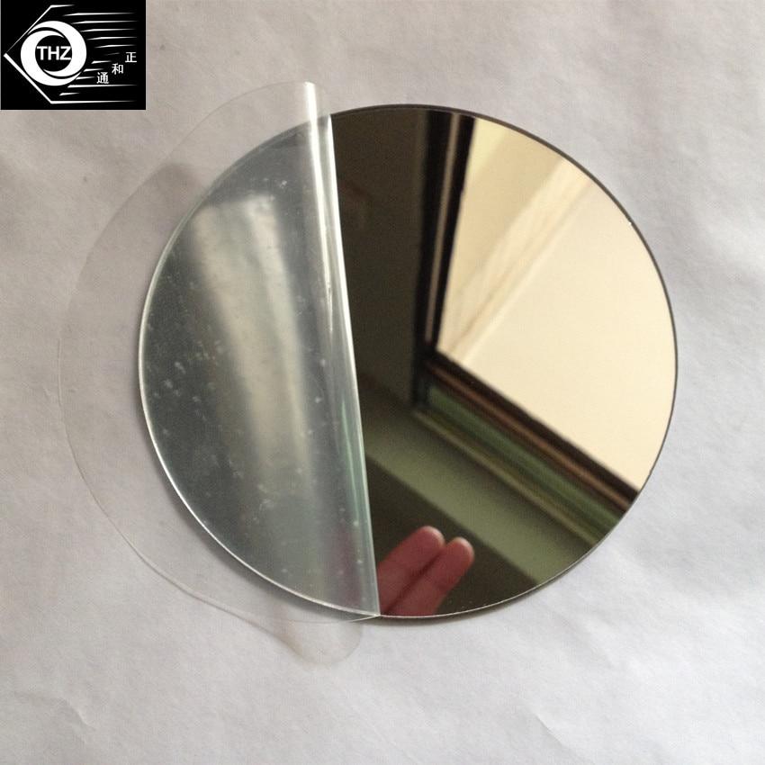 25pcs Diam 400x1mm Acrylic Mirrors Round Plastic PMMA Pier Glass Hotel Decorative Lens Not Easy To