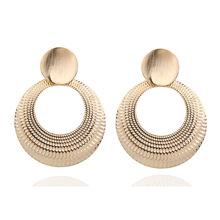 цена на Fashion Jewelry statement earrings alloy Dangle Earrings For Women Geometry Big Circle Earrings earrings 2018