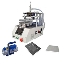 LY 901 automatic Touch screen oca glue removing machine for mobile phone lcd screen refurbishment with 1L pump with 4 moulds