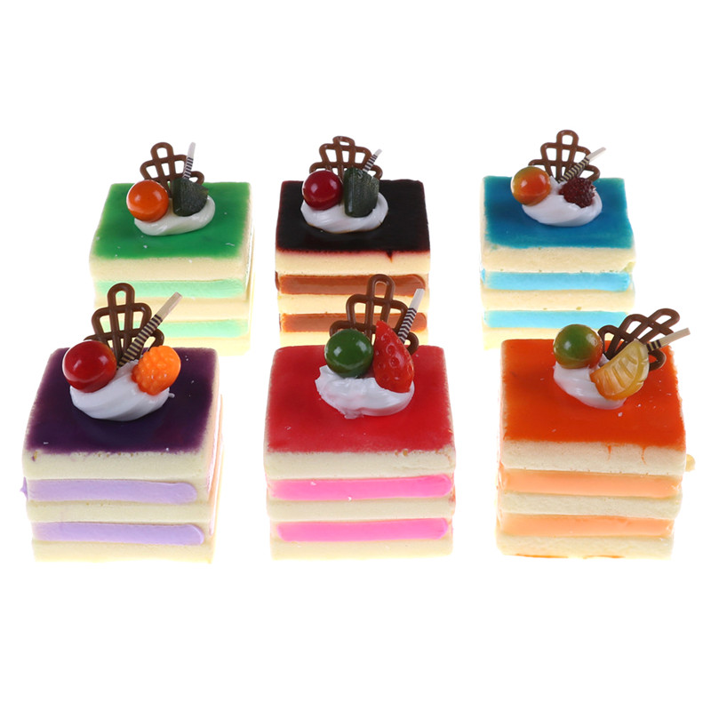 Colourful Fruit Cake: High Quality Colorful Squishy Squeeze Simulation Square