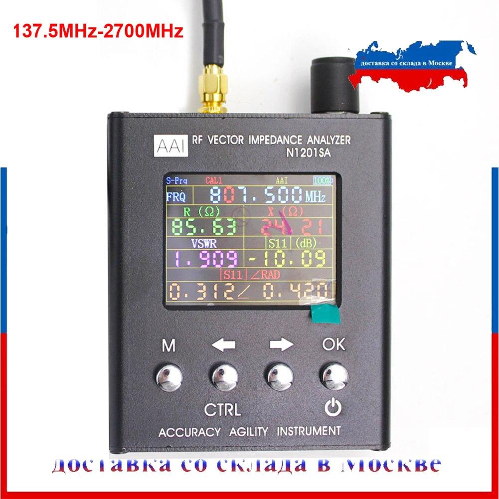 N2201SS N2061SA N1201SA Além Disso UV RF Vector Impedância ANT Antena SWR Analyzer Tester Medidor de resistência de 140 MHz-2.7 GHz /impedância SWR/