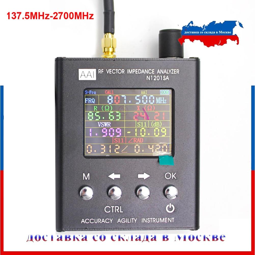 N2201ss n2061sa n1201sa plus uv rf vector impedância ant swr antena analisador medidor tester 140 mhz-2.7 ghz resistência/impedância/swr