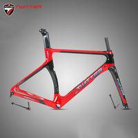 Road Carbon Frame Twitter T10pro Disc cutting Thru axle Shaft 700c Carbon Road Frame Disc Brake Come With Carbon Fork Seatpost