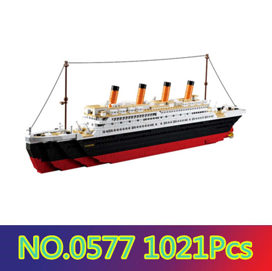 SLUBAN Model building kits compatible with lego city Titanic RMS ship 1021PCS 3D blocks Educational model building toys шкатулка boxy p 03c c