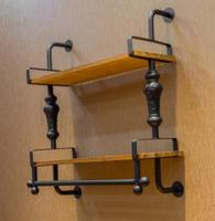 Double Layer Living Room Wall Mount Storage Holder Clothing Store Display Rack Vintage Iron Coat Hanger
