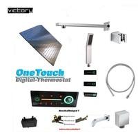 Digital thermostatic shower set bath mixer with digital display shower panel