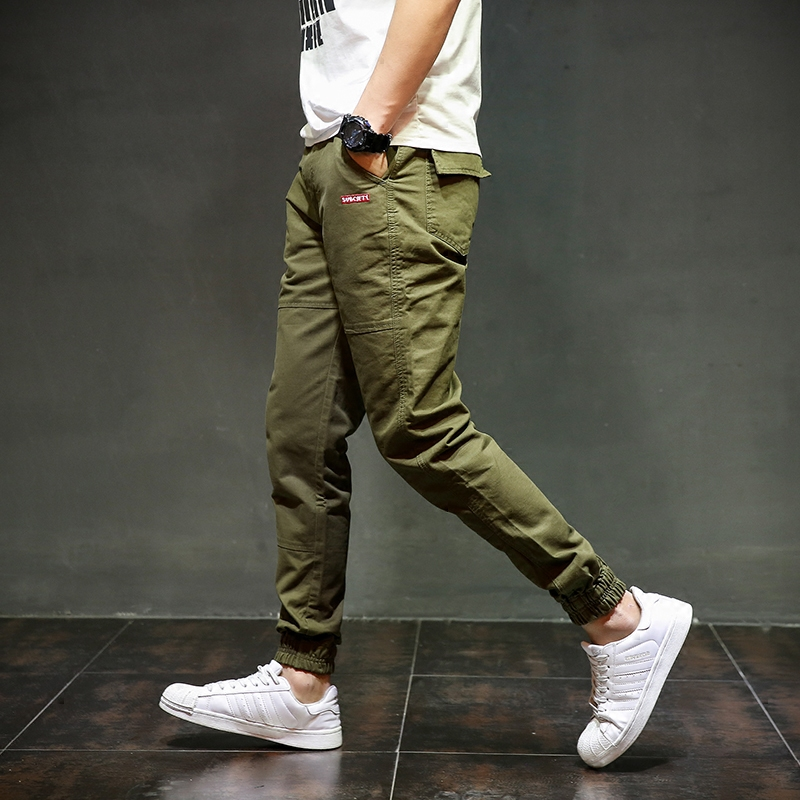 4aa80a6911fdb4 Army Green Color Fashion Streetwear Mens Jeans Jogger Pants Brand Clothing  Youth Summer Classic Ankle Banded Pants Size 28-40