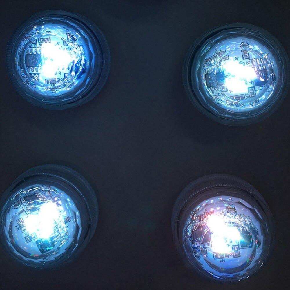 12 stk / Lot Multi-farger Endre RGB LED-nedsenkbare - Ferie belysning - Bilde 2