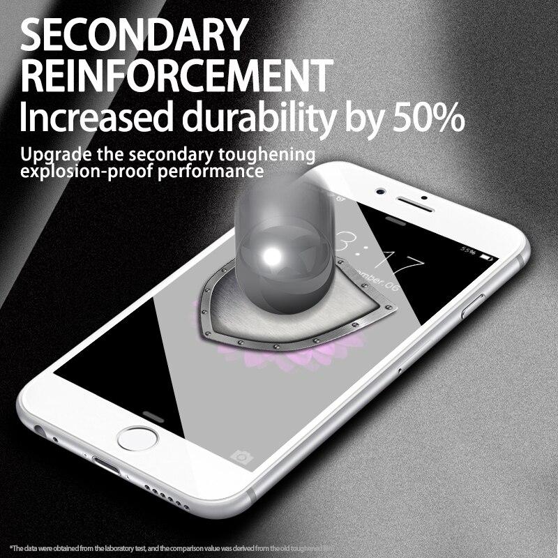 Image 5 - Защитное закаленное стекло для iPhone X iPhone 7 HD прозрачное защитное стекло на весь экран для iPhone 11 Pro MAX 7Plus 8Plus-in Защитные стёкла и плёнки from Мобильные телефоны и телекоммуникации