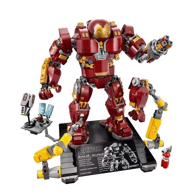 Marvel Super Heroes Hulkbuster Mech Ultron edycja znak Iron Mana zestaw bloki bloki Avengers zabawki w Klocki od Zabawki i hobby na  Grupa 2