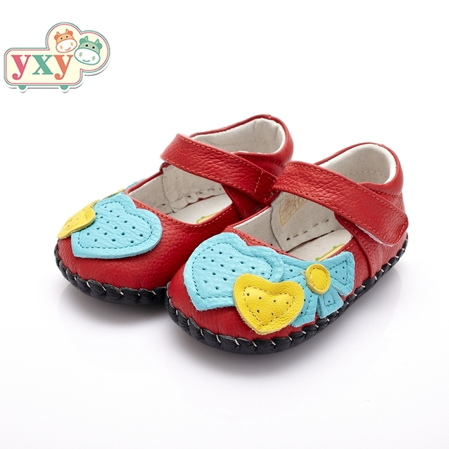 Yxy 여름 정품 돼지 가죽 개구리 아기 꽃 첫 워커 소녀 소년 유아 손으로 만든 신생아 부드러운 고품질 신발