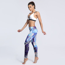 Blue Design Beach Leggings