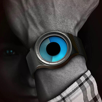 GEEKTHINK Quartz Watches Men Top Luxury Brand Casual Stainless Steel Mesh Band Watch Male Clock Sport