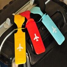 Милые багажные ярлыки ремни чемодан ID Имя Адрес определить ярлыки, багажные ярлыки самолет ПВХ аксессуары PA879246